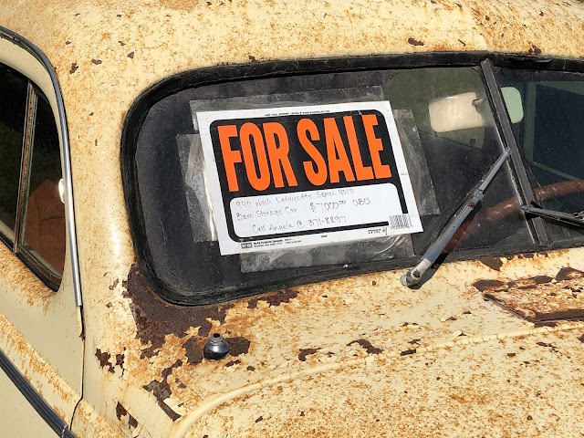 Rusty car for sale:  Photo by Hilbert Hill on Unsplash