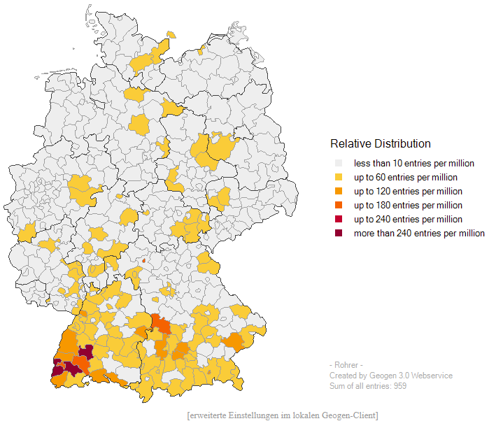Map Of Germany To Color.Kathryn S Quest Mappy Monday Geogen German Surname Mapping Tool