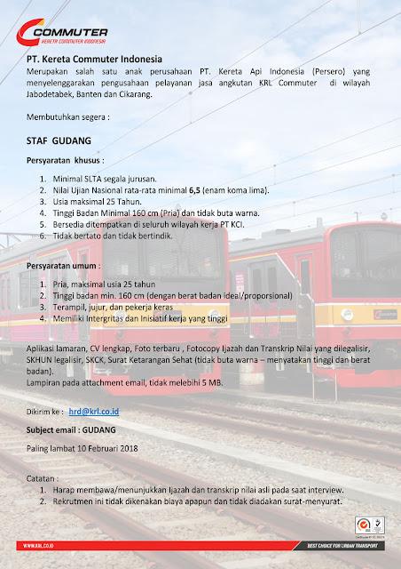 Lowongan Kerja via Email Staff Gudang