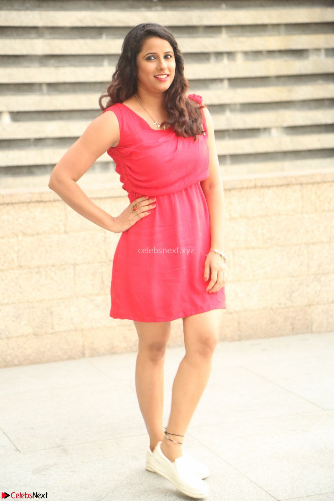 Shravya Reddy in Short Tight Red Dress Spicy Pics ~ CelebsNext Exclusive Pics