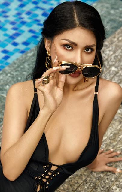 Ảnh nude hoa hậu Loan Vương khoe vóc dáng 3