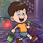Play Games4king Fishing Boy Rescue