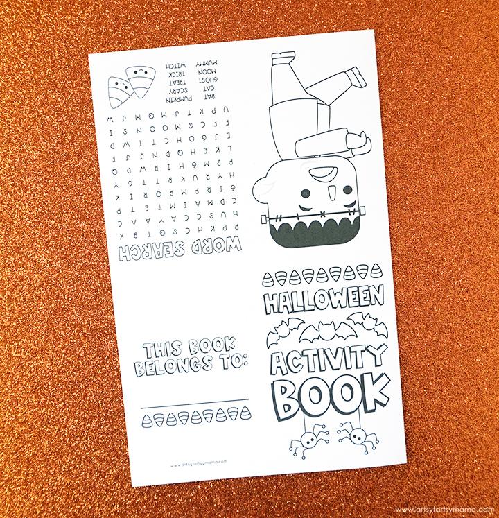 Halloween Activity Book Folded