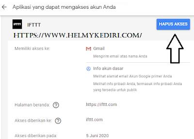 mengecek aplikasi dan layanan yang terhubung ke akun google1