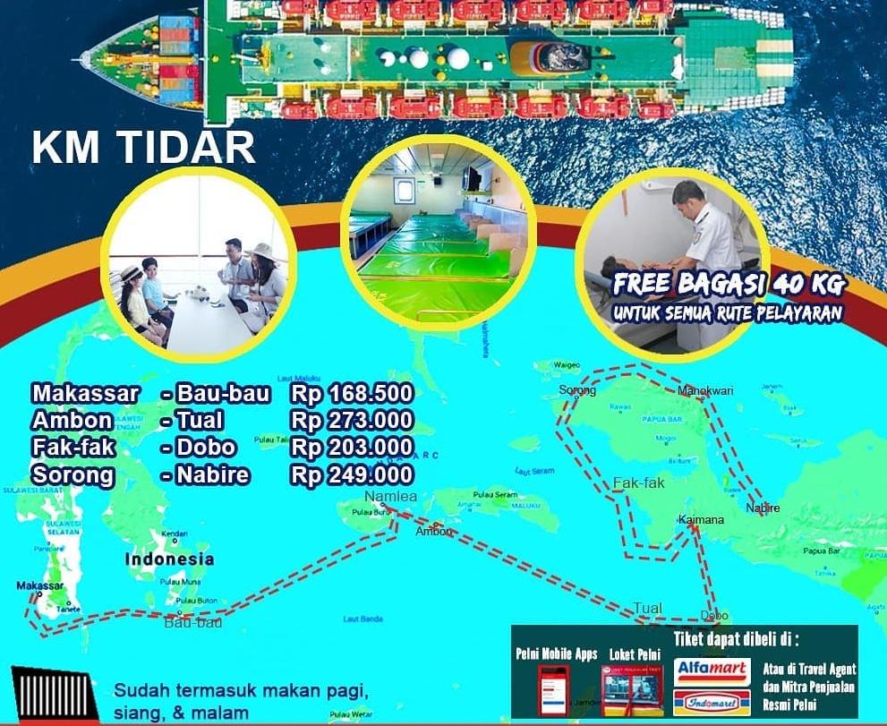Jadwal Kapal Pelni Tidar Terbaru Bulan Desember 2020 Harga Tiket