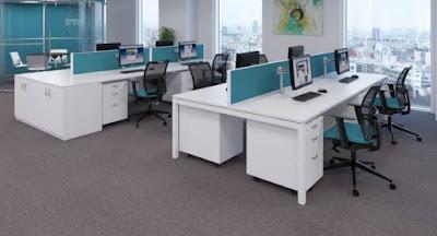 Efek warna interior ruang kerja