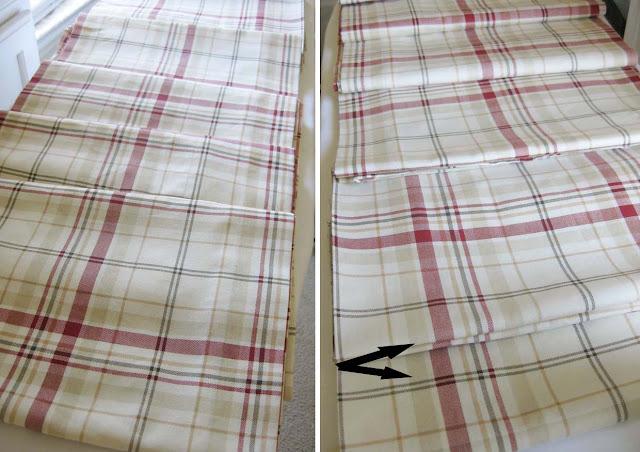 plaid fabric to make curtains longer