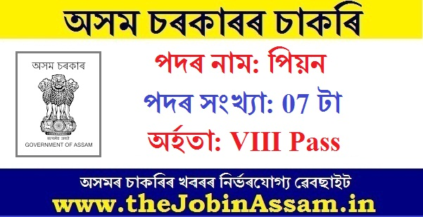District And Session Judge, Cachar Recruitment 2020 : Apply For 07 Office Peon Posts