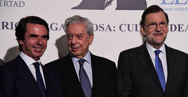 Aznar, Vargas Llosa y Rajoy