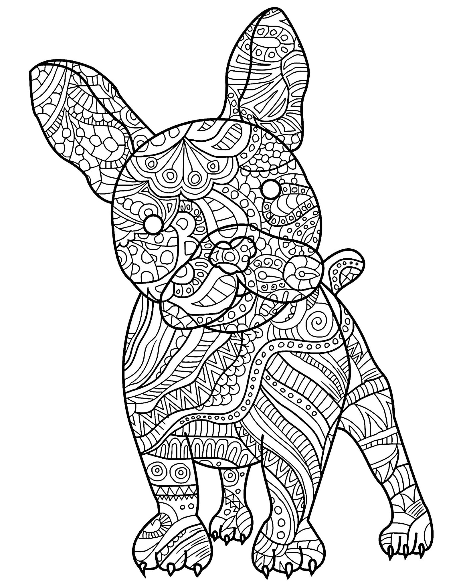 Dogs coloring pages 78