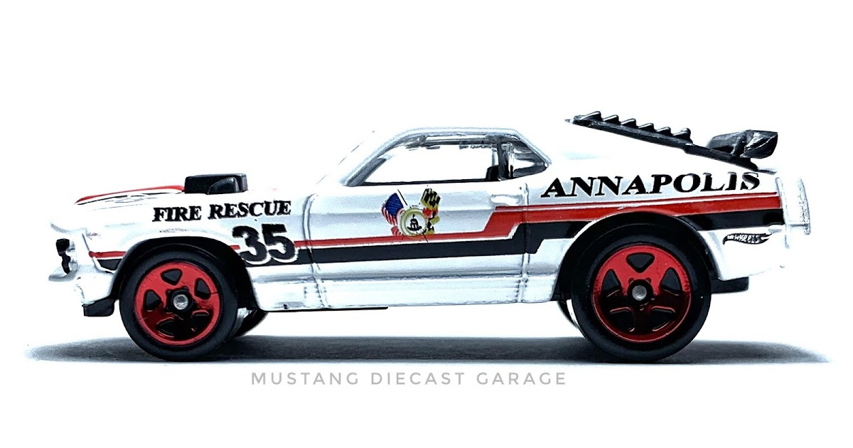 NEW HOT WHEELS /'70 FORD MUSTANG MACH 1 HW MAIN STREET ANNAPOLIS FIRE RESCUE