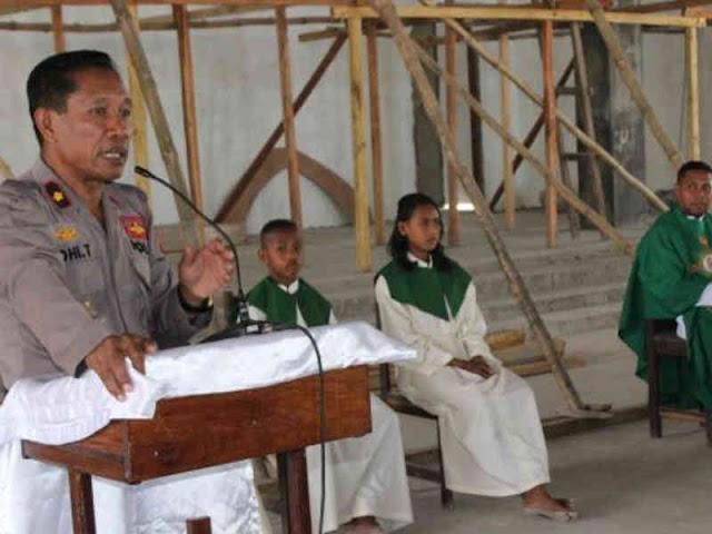 Lodevicus Tethool Pimpin Mimbar Kamtibmas ke Gereja St Paulus Bomaki