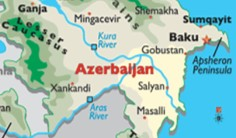 Peta Azerbaijan