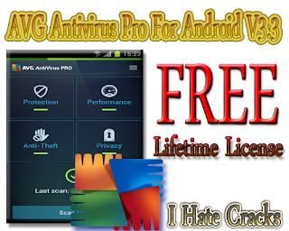 Get AVG Antivirus Pro For Android V3.3 With Lifetime License For Free