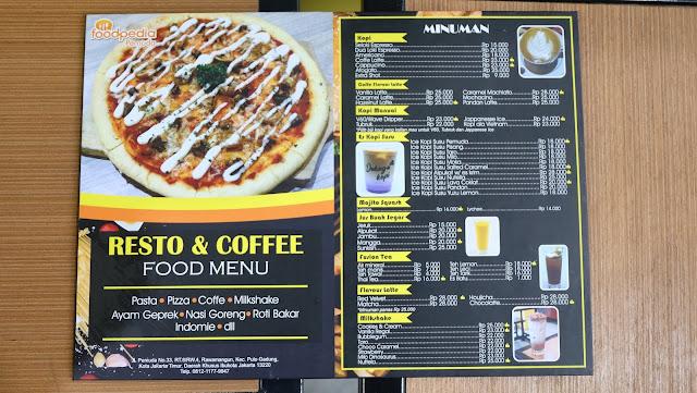 Menu Foodpedia Pemuda Kuliner Jakarta