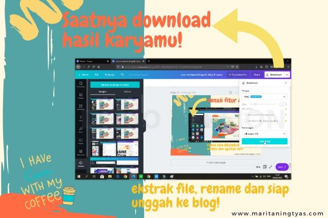 cara membuat infografis blog di canva siap download hasil karya