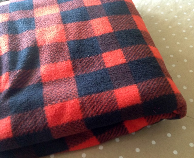 Black and red buffalo plaid fabric