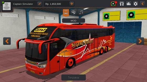 Livery SR2 XHD Scania K410 Sugeng Rahayu
