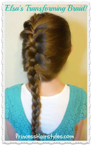 Frozen french braid and updo tutorial, Elsa