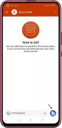 Cara Menggunakan Fitur Note to Self di Signal-6