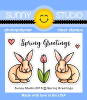 Sunny Studio Stamps: Introducing Spring Greetings 2x3 Photopolymer Clear Easter Bunny Stamps