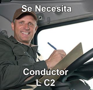 Empleo como Conductor C2 en Cali