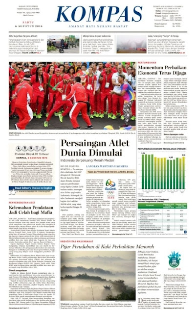 Kompas Edisi Sabtu 6 Agustus 2016