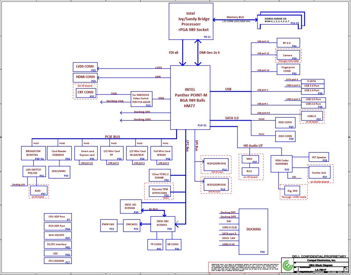 Schematic Dell Latitude E5430 - Compal LA-7901P   BIOS