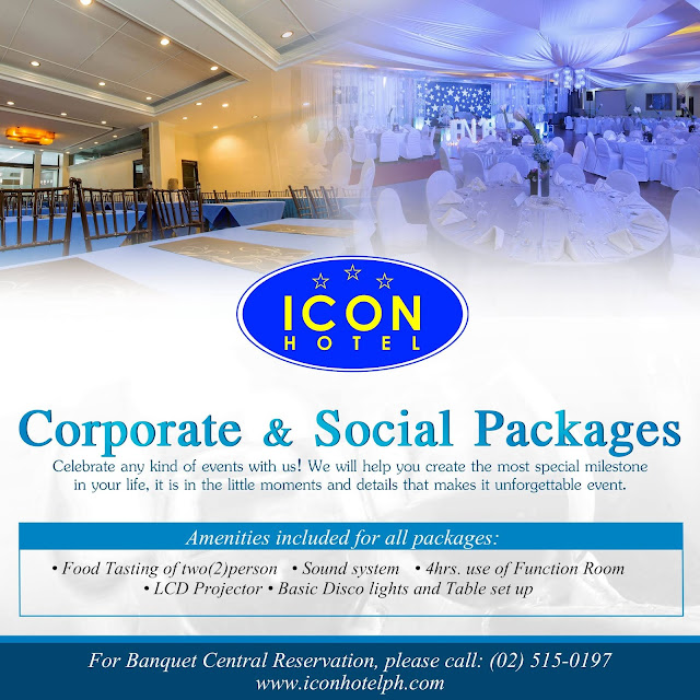 Icon Hotel Corporate & Social Packages