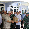 Kemenham Memyerahkan Alat Medis ke Pemerintahan Kabupaten Natuna.