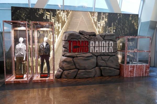 Tomb Raider movie exhibit