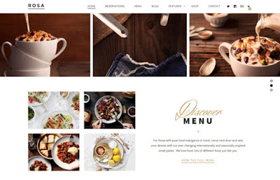 Rosa bar & restaurant template for Wordpress site
