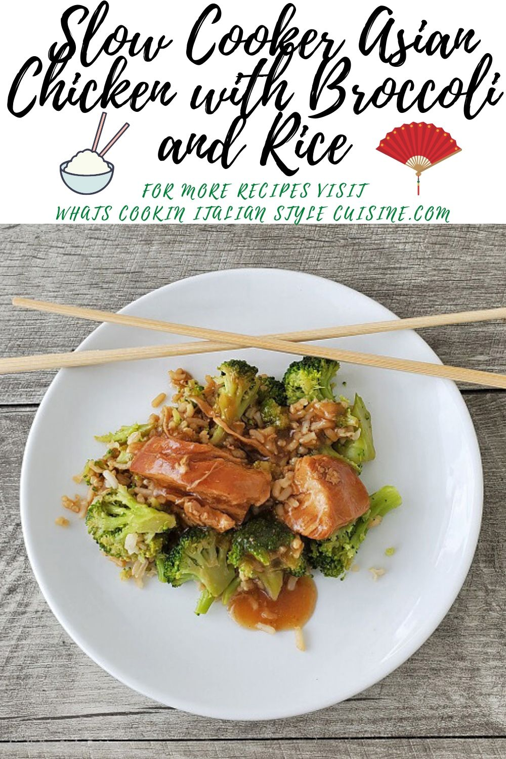 how to make chicken broccoli and rice asian style pin for later