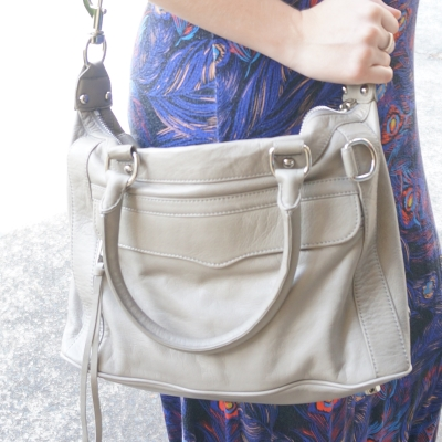 AwayFromTheBlue | Rebecca Minkoff mini MAB MAM bag soft grey