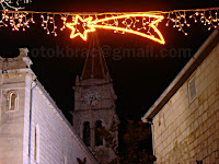 Božićni ukrasi u Postira otok Brač slike