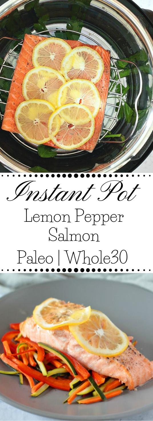 INSTANT POT LEMON PEPPER SALMON #lemon #salmon #dinner #yummy #recipes