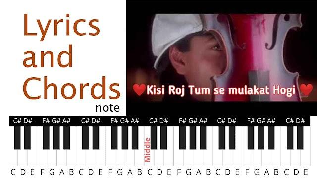 Kisi Roz Tumse Mulakaat Hogi Song Lyrics and Chords note