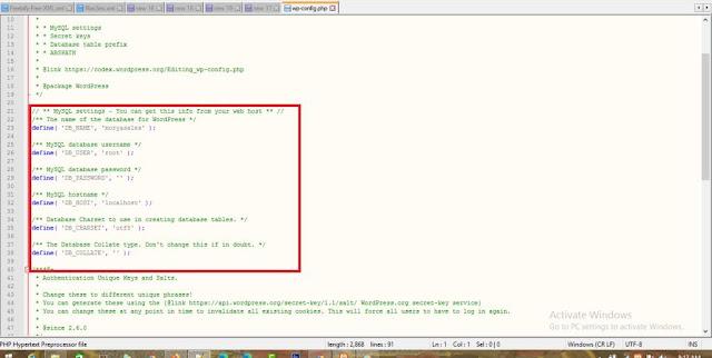 databasefile localhost