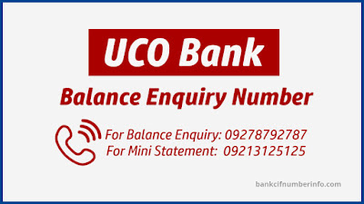 UCO Bank balance check by missed call