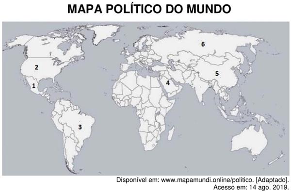 mapa politico do mundo