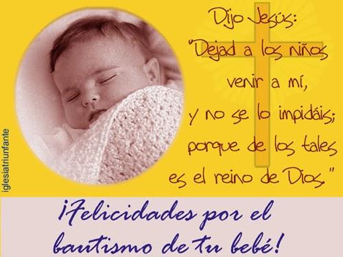 Frases Bautizo Bebé Imagui
