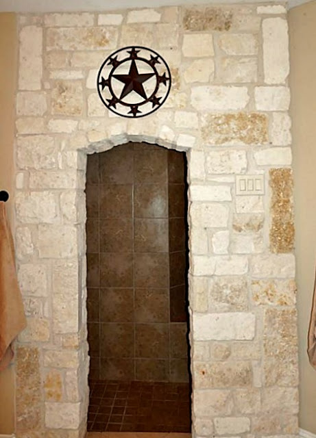 Grotto Walk In Shower-House Hunting-Texas Hill Country House- From My Front Porch To Yours
