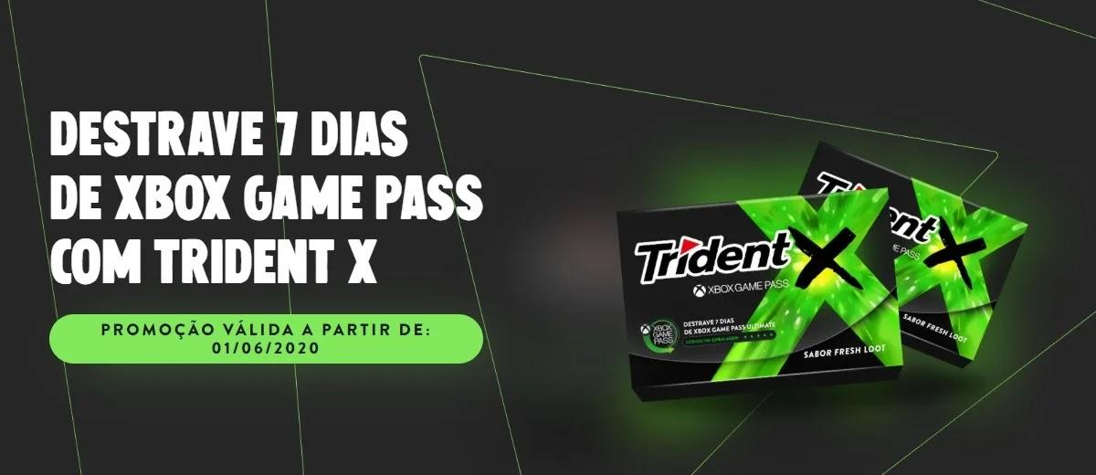 Cadastrar Promoção Trident 2020 Ganhe 7 Dias Grátis Xbox Game Pass - Resgatar Voucher