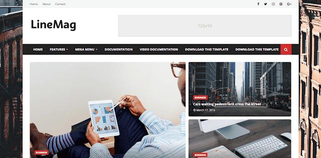 Linemag - тема за лични блогове