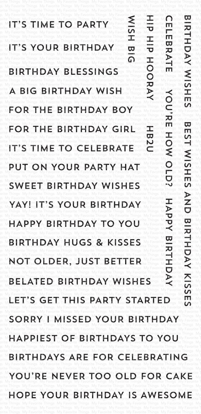 My favorite things - BITTY BIRTHDAY WISHES