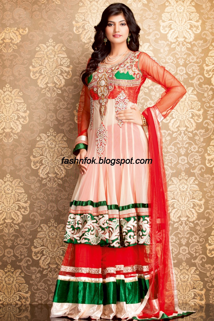 Fashion fok indian beautiful wedding bridal wear new for Indian wedding dresses for girls