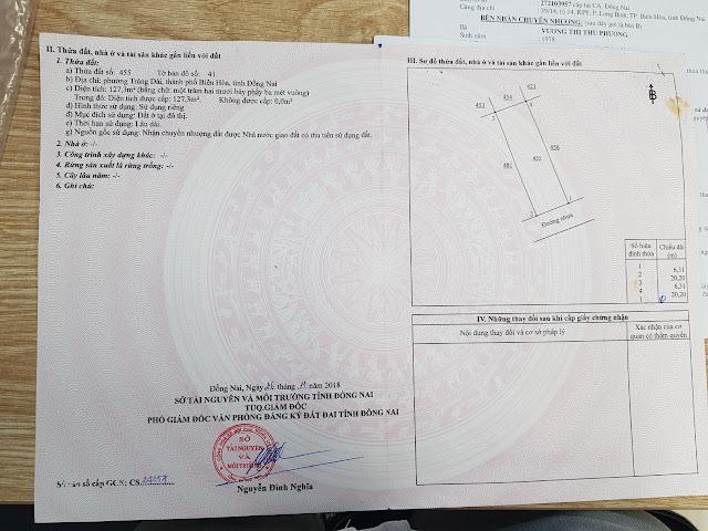 Bán  đất Phú Gia 1 Trảng Dài  127.3 MV (CYAH)
