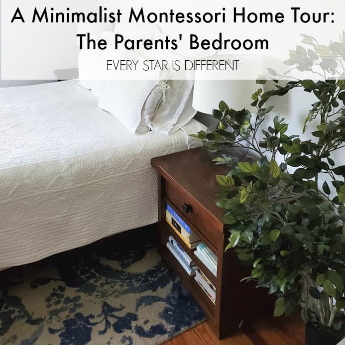 A Minimalist Montessori Home Tour: The Parents' Bedroom