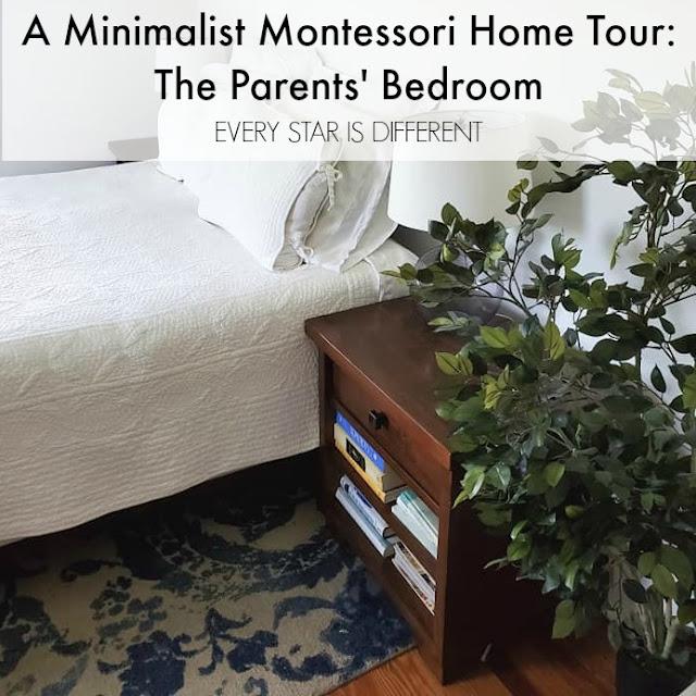 A Minimalist Montessori Home Tour: The Parents' Bedroom