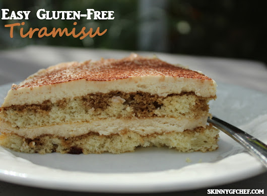 Easy Gluten-Free Tiramisu, xanthan free - Skinny GF Chef healthy and great tasting gluten free recipes